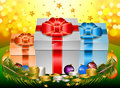 Free Gift Box With Ribbon And Bow Royalty Free Stock Images - 35808859