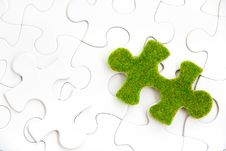 Free Green Puzzle Piece Stock Images - 35800874