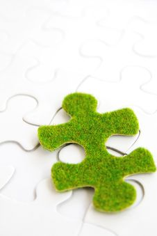 Free Green Puzzle Piece Stock Photo - 35800890