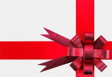 Free Ribbon And Red Bow Royalty Free Stock Photography - 35801687