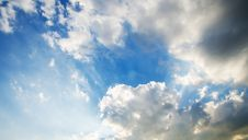 Free Sky With Clouds And Sun Stock Photos - 35804413