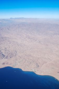 Free Sinai Peninsula From The Bird S-eye View Stock Image - 35808461