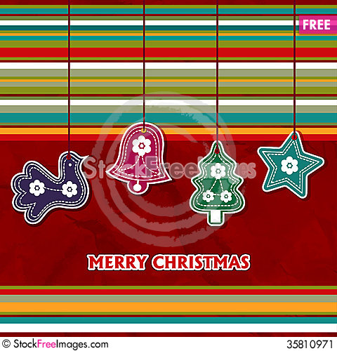 Free Christmas Card With Toys Stock Image - 35810971