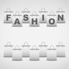 Free Background Shopping Bag And Inscription Fashion Stock Images - 35816714