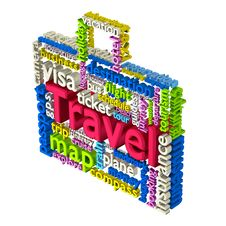 Free Travel Word Cloud Royalty Free Stock Images - 35816949
