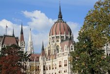 Hungarian Parliament Building Detail Stock Photography