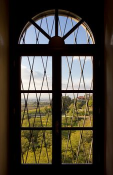 Free Window On A Country Landscape Royalty Free Stock Photos - 35818848
