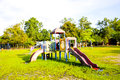 Free Playground Park On Grass Near School Is Children Royalty Free Stock Photography - 35826677