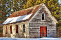 Free Old Church With Red Door Stock Photo - 35827810