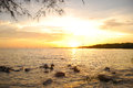 Free Sunset Beach Royalty Free Stock Images - 35828939