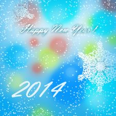 Free Happy New Year 2014 Card Royalty Free Stock Photography - 35823787