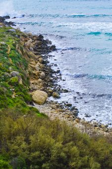 Cliffs - Maltese Landscape Stock Photo