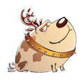 Free Christmas Cartoon Dog Stock Image - 35839551