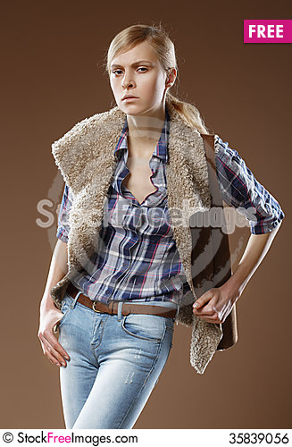 Free Androgynous Beautiful Young Women Royalty Free Stock Image - 35839056