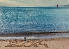 2014 Is Coming To Eilat City, Israel Royalty Free Stock Photo