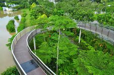 Free Circular Walkway Around Yishun Reservoir Stock Photos - 35833483