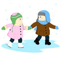 Free A Boy And A Girl At The Rink Stock Photos - 35846993