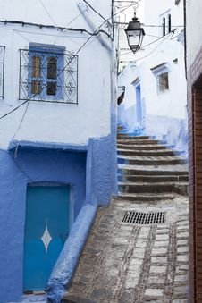 Free Street In Medina Of Blue Town Chefchaouen, Morocco Stock Photography - 35842242