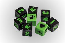 Board Game Dice Stock Photo