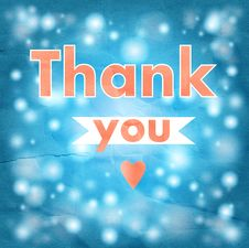 Free Thank You Card Royalty Free Stock Photo - 35846095