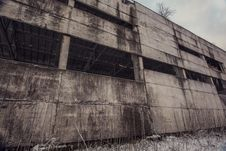 Free Concrete Wall Of Abandoned Ghost Factory Royalty Free Stock Photos - 35847288