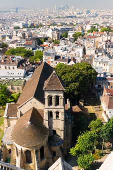 Free View Of Paris From The Sacre Coeur Stock Photo - 35848510