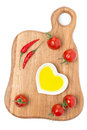 Free Cherry Tomatoes, Chilli And Olive Oil On Wooden Board, Isolated Stock Image - 35856071