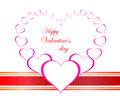 Free Valentines Day Beautiful Background With Ornaments And Heart. Stock Photography - 35857822