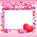Free Valentines Day Beautiful Background With Ornaments And Heart. Royalty Free Stock Image - 35857886