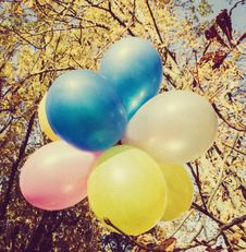 Free Colored Ballons Royalty Free Stock Photo - 35851245