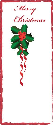 Free Christmas Border With Holly Stock Photos - 35851403