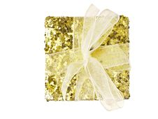Free Gold Gift Box Royalty Free Stock Image - 35853686