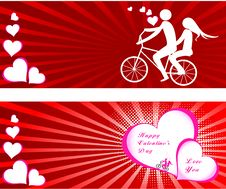 Free Valentines Day Beautiful Background With Ornaments And Heart. Royalty Free Stock Photography - 35857807