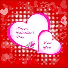 Free Valentines Day Beautiful Background With Ornaments And Heart. Royalty Free Stock Images - 35857809