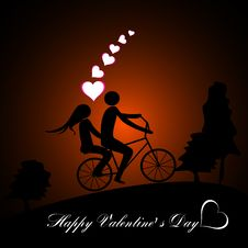 Free Valentines Day Beautiful Background With Ornaments And Heart. Stock Photo - 35857810