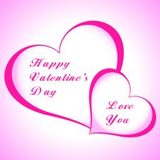 Free Valentines Day Beautiful Background With Ornaments And Heart. Royalty Free Stock Image - 35857816