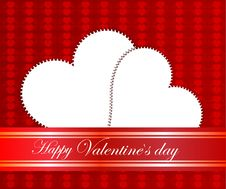 Free Valentines Day Beautiful Background With Ornaments And Heart. Royalty Free Stock Photos - 35857838