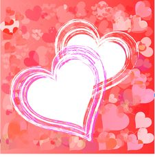Free Valentines Day Beautiful Background With Ornaments And Heart. Stock Photography - 35857842