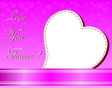 Free Valentines Day Beautiful Background With Ornaments And Heart. Stock Photography - 35857852