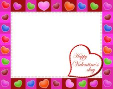 Free Valentines Day Beautiful Background With Ornaments And Heart. Royalty Free Stock Images - 35857859