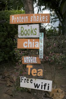 Free Cafe Sign. Stock Photo - 35858800