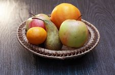 Free Fruits In Basket Royalty Free Stock Image - 35859396