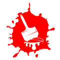 Free Brush And Paint Stain Stock Photos - 35866223
