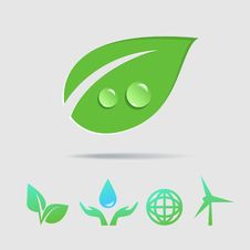 Eco Icons  Collection Royalty Free Stock Images
