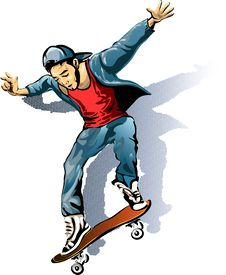 Free The Skateboarder Stock Image - 35863701