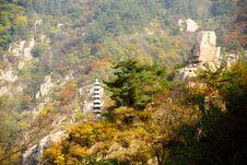 Free Laoshan Mountains Beautiful Autumn Scenery Of China Royalty Free Stock Photography - 35865967