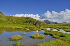 Free Mountain Lake With Islands In Carpathians Royalty Free Stock Photography - 35867387