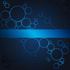 Free Abstract Background With Blue Shining Circles Royalty Free Stock Photos - 35868098