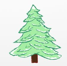 Free Christmas Tree Sketch Royalty Free Stock Photos - 35868658