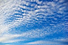 Free The White Clouds Against The Pure Blue Sky Royalty Free Stock Photo - 35871295